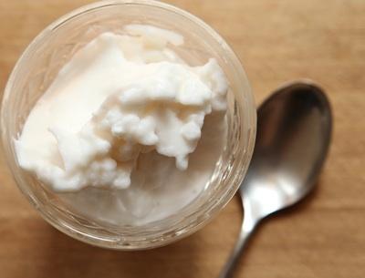 bowl of camel milk ice cream