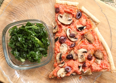 pizza and kale